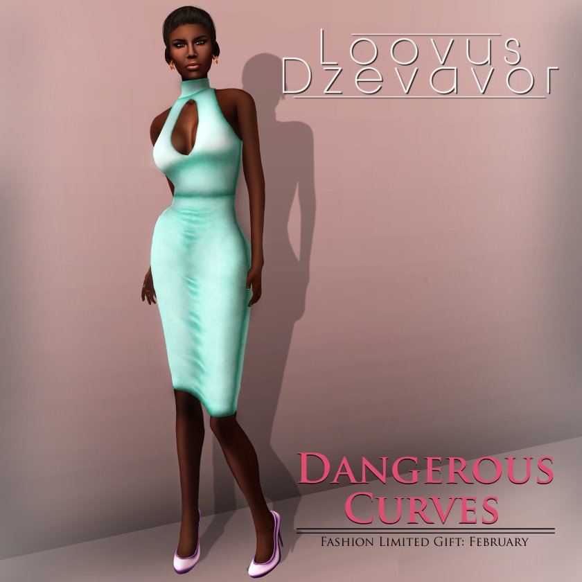 Loovus Dzevavor Dangerous Curves Dress ad Fashion Limited Gift