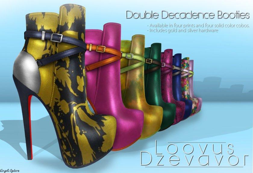 Loovus Dzevavor Double Decadence Booties ad