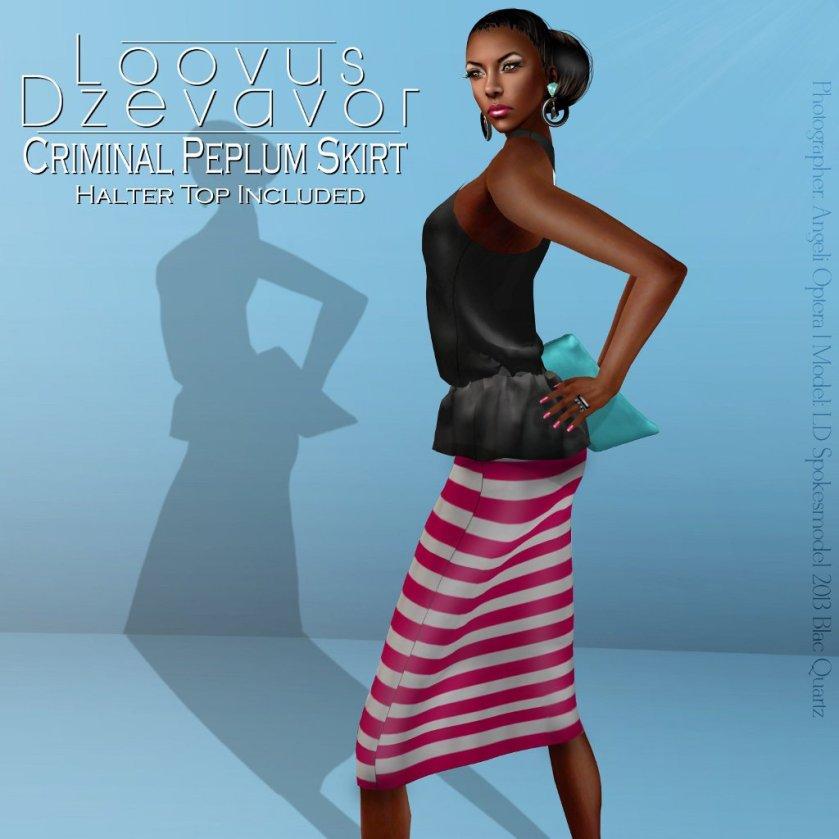 LD Criminal Peplum Skirt ad