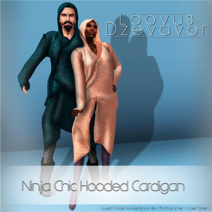 Loovus Dzevavor Ninja Chic Hooded Cardigan ad