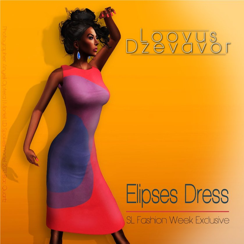 Loovus Dzevavor Elipses Dress ad for SLFW