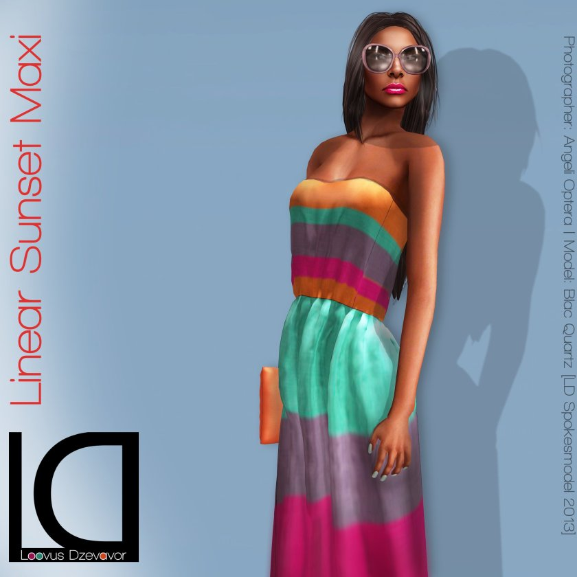 Loovus Dzevavor Linear Sunset Maxi ad for Fashion Limited