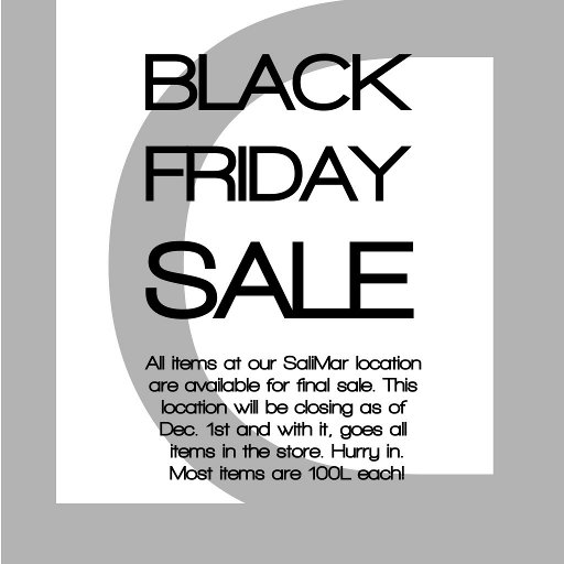 LD BLACK FRIDAY SALE SIGN small